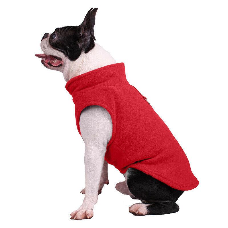 Mascota vellón para perros arnés chaleco Jersey suéter abrigo para perros pequeños medianos chaqueta UK