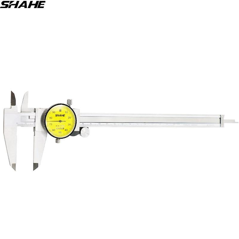 SHAHE 200 мм циферблат штангенциркуль 0,01 мм ударопрочная нержавеющая сталь штангенциркуль с циферблатом метрический Калибр