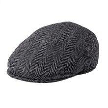 Новая Осенняя мужская кепка, летняя шляпа из смеси шерсти, плоская кепка, большие шляпы в клетку Herrinbone, 721