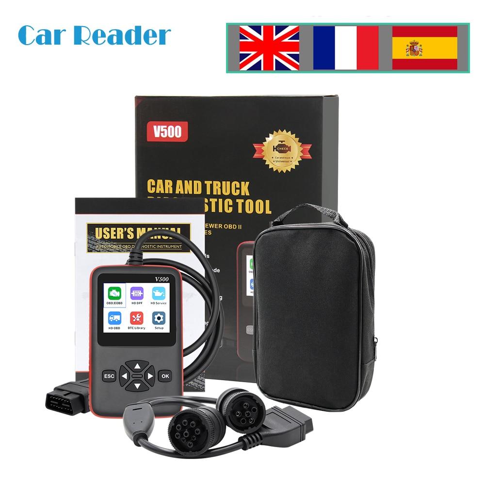 V500 OBD2 Truck/Auto Diagnostische Scanner Auto Tool CR-HD Heavy Duty Truck Obd2 Scanner Voor Scania J1939 J1708 V500 code Reader