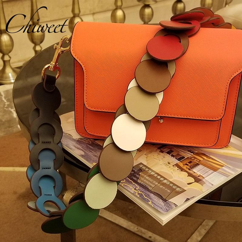 Marca de Luxo Acessórios para as Mulheres Arco-íris Cinta Larga Círculo Link Bolsa Ombro Nuvem Alça Designer Couro Bolsas 95 19ss