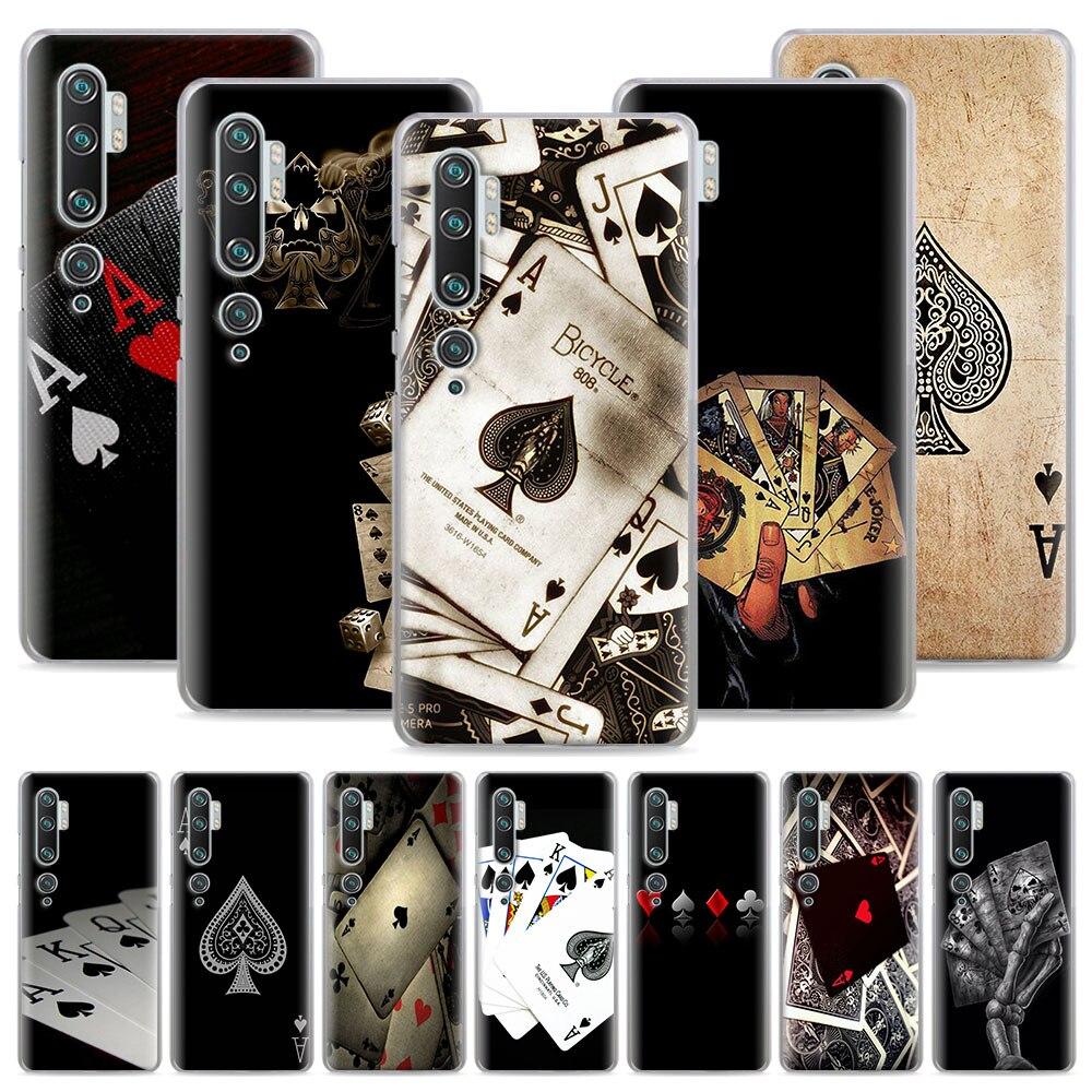 Poker cartes de jeu étui de jeu pour Xiaomi Mi 9 9T 10 Note jeunesse 10 Pro A1 A2 A3 8 Lite Poco X2 F2 Pro couverture rigide Capa