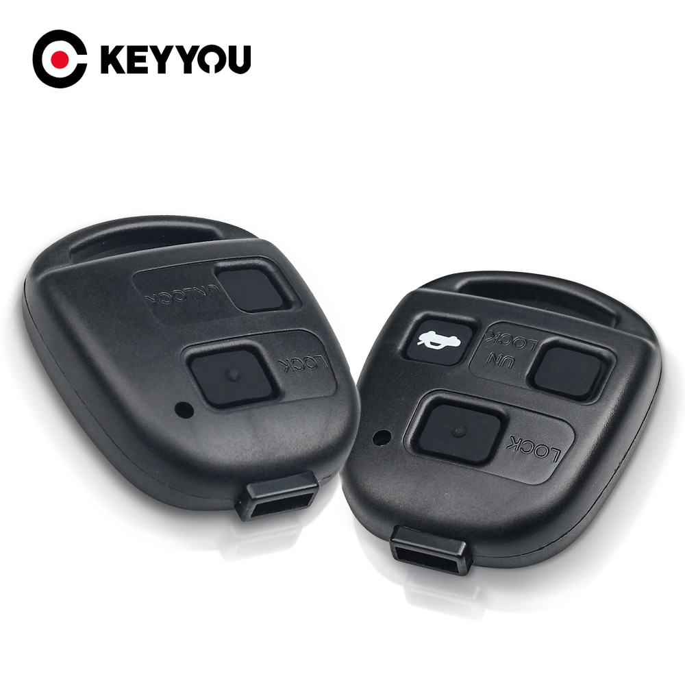 KEYYOU Car Key Shell For Toyota Yaris Camry Corolla For Lexus Es Rx IS200 RX300 ES300 LS400 GX460 2/3 Button Remote Case No Logo