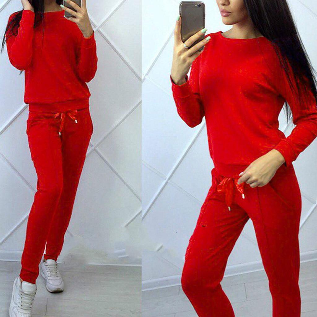 Conjunto de ropa deportiva de manga larga para mujer, conjunto de Top...