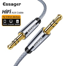Essager 3.5mm Jack Aux Cable 3.5 mm Male to Male Audio Cable Speaker Line Aux Wire Cord For Samsung
