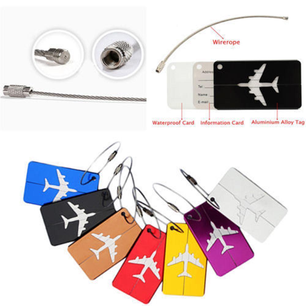Новый алюминиевый багаж для путешествий бирка для чемодана идентификационный адрес Имя этикетки идентификационный адрес бирки автобусная...