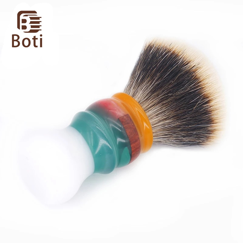 Boti Whole Brush New Jam On The White Clouds Handle And Fan NC Chubby Finest Two Band Badger Hair Knot Handmade Shaving Tools
