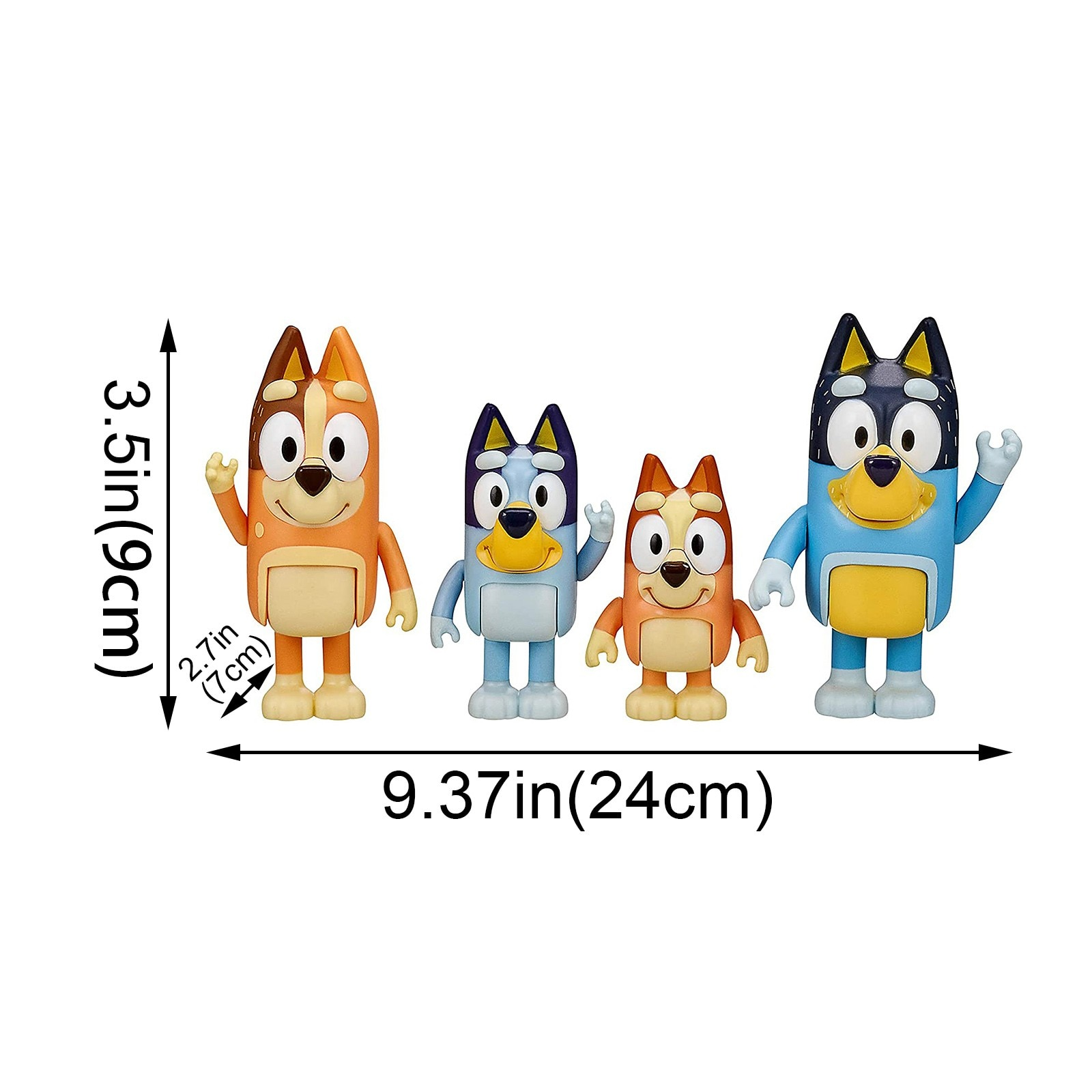 4PC Bluey Family Toy Pack Figure Made A Multi-Colored Toy Gift For Their Children Bluey Toys By Hand