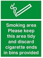 metal tin sign smoking area cigarette bins provided safety dibond retro vintage custom metal tin sign metal sign 8x12 inches