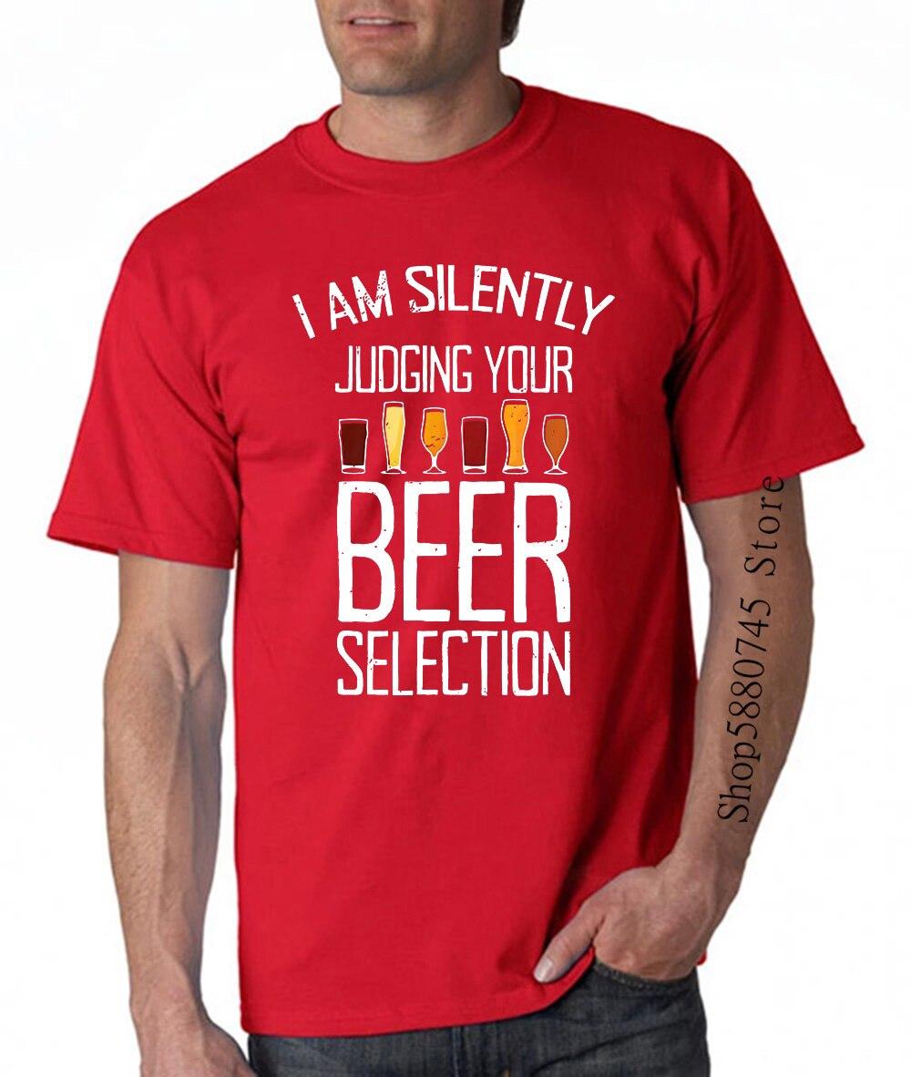 Estoy en silencio a juzgar su selección de cerveza tiempo bebiendo negro gracioso T camisa