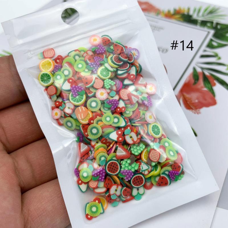 Naklejki Na Paznokcie TSLM1-pegatinas para uñas, adornos Nail Art, frutas