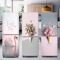 fashion ins self adhesive fridge sticker refrigerator refurbishment wrap freezer sticker art fridge wallpaper removable