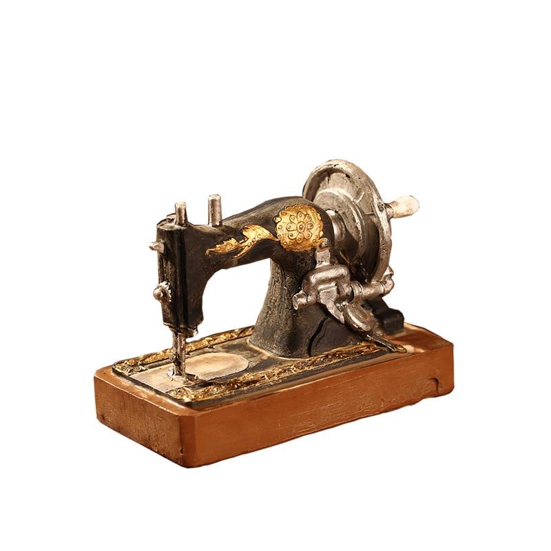 Retro antiguo de moda vieja máquina de coser decoración estudio restaurante LOFT ventana decoración del hogar Accesorios de tiro