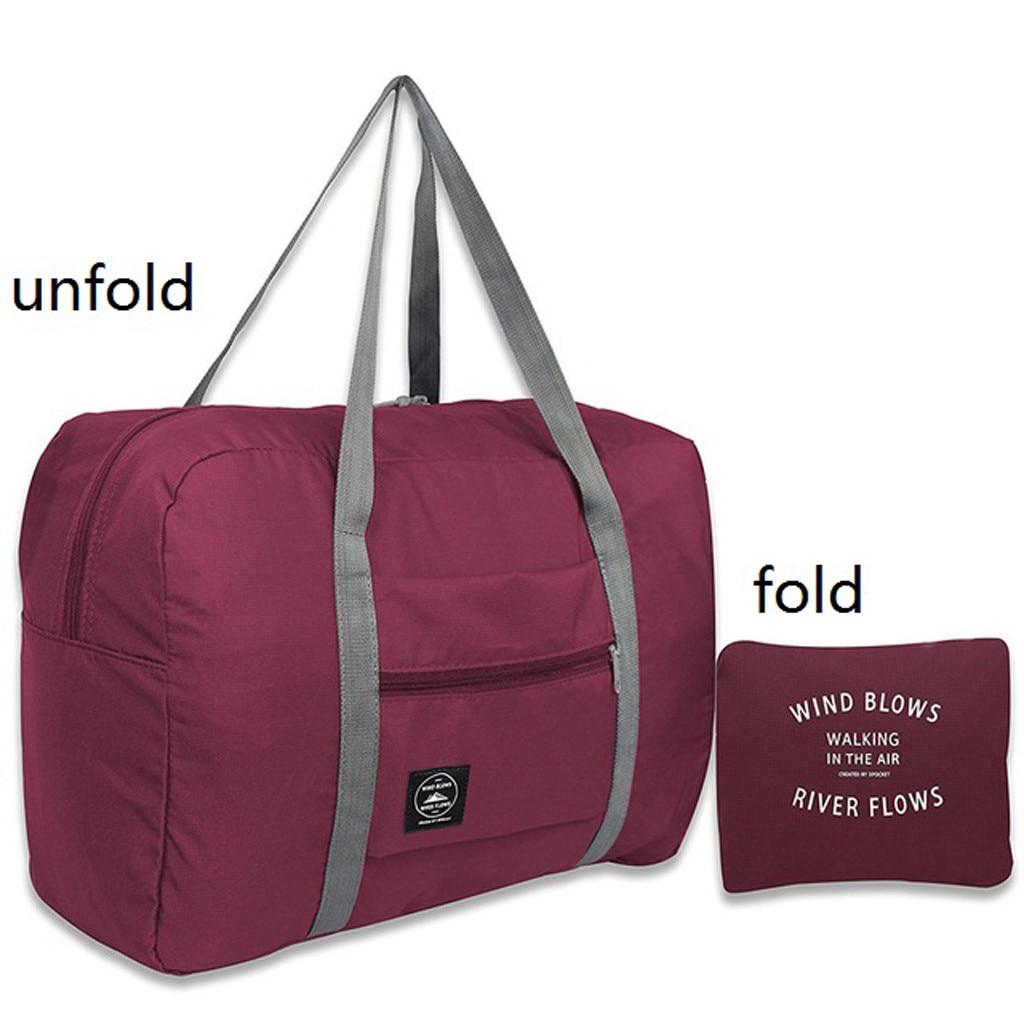 Women's Men's Large Capacity Folding Sandbag Storage Bag Waterproof Nylon Travel Packaging Cube Lugg