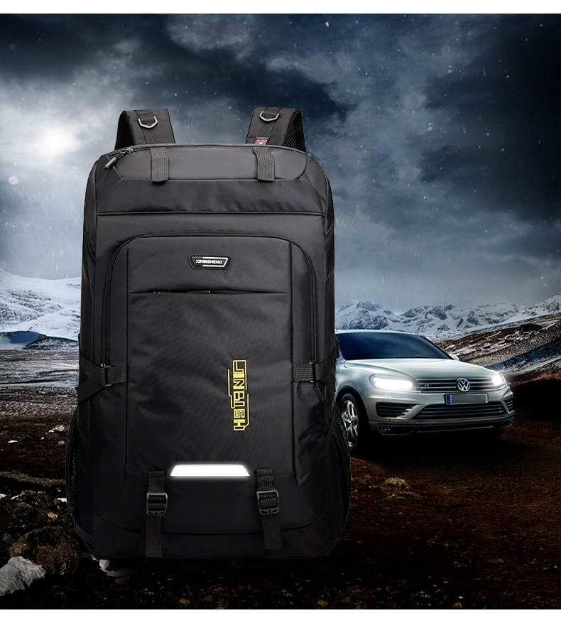 80L Outdoor Camping Waterproof Laptop Backpack Men Large Capacity Hiking Travel Bag Unisex Mountaineering Climbing Backpacks Man