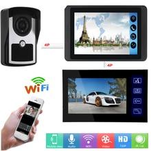 SmartYIBA-kit de 2 moniteurs sonnette vidéo   Sonnette intelligente sans fil, porte-vidéo filaire, application déverrouillage à distance, enregistrement visuel, interphone vidéo