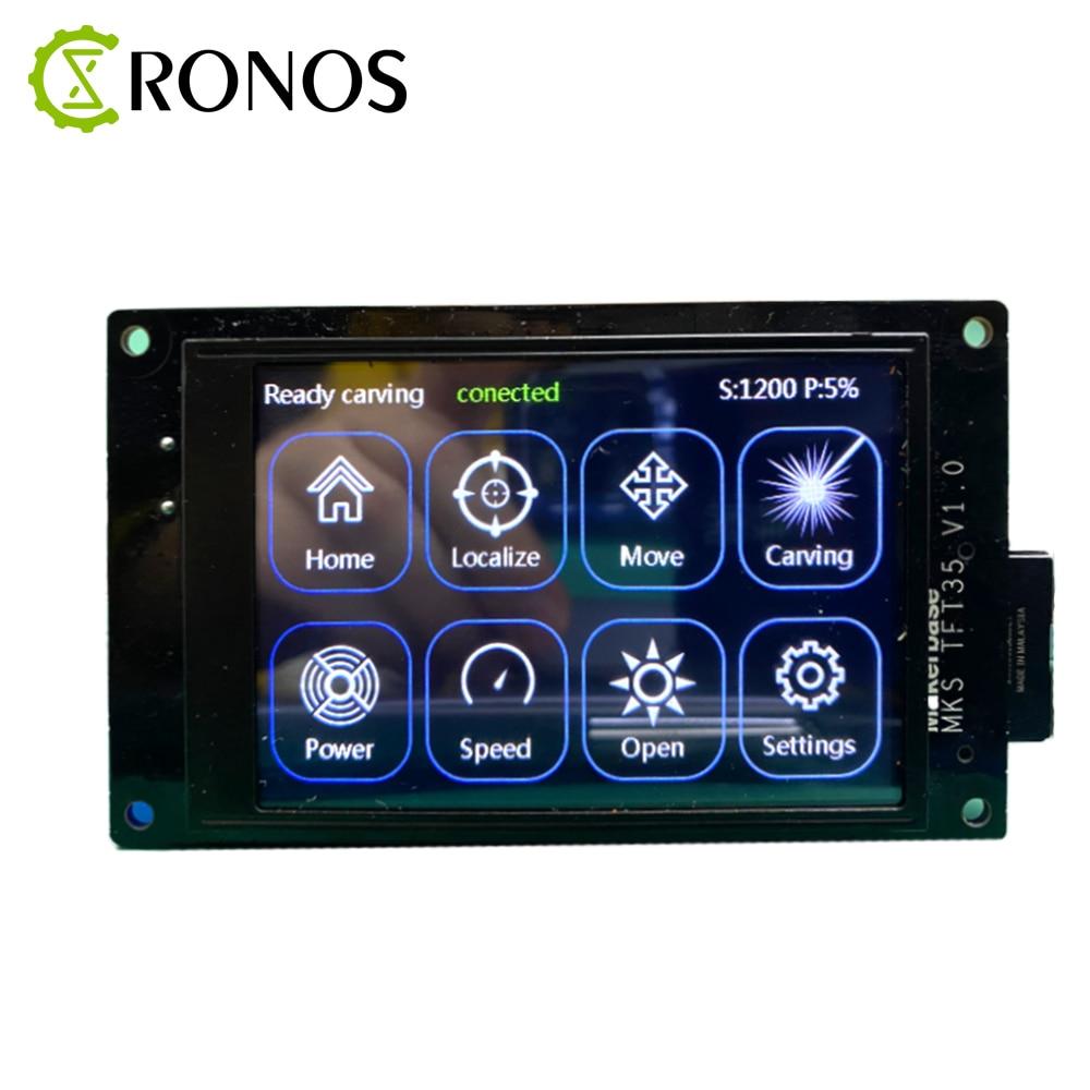 TFT35 V1.0 شاشة تعمل باللمس الذكية عرض تحكم ثلاثية الأبعاد أجزاء الطابعة 3.5 بوصة معاينة G-كود GRBL حاليا