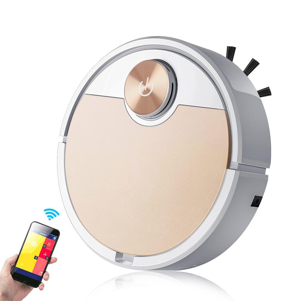 جهاز آلي لتنظيف الأتربة الهاتف المحمول APP التحكم عن بعد مكنسة كهربائية ذكية التلقائي جهاز إزالة الغبار والتعقيم مكنسة