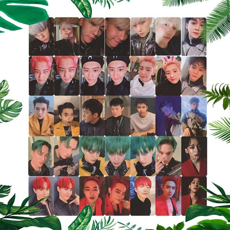 6 stücke EXO 6th Obsession Offizielle Original ausgewählt photocard 1p K-POP Waren Foto Karte