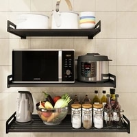 nordic simple perforated kitchen stainless steel simple wall mounted widening and thickening oven storage and finishing racks