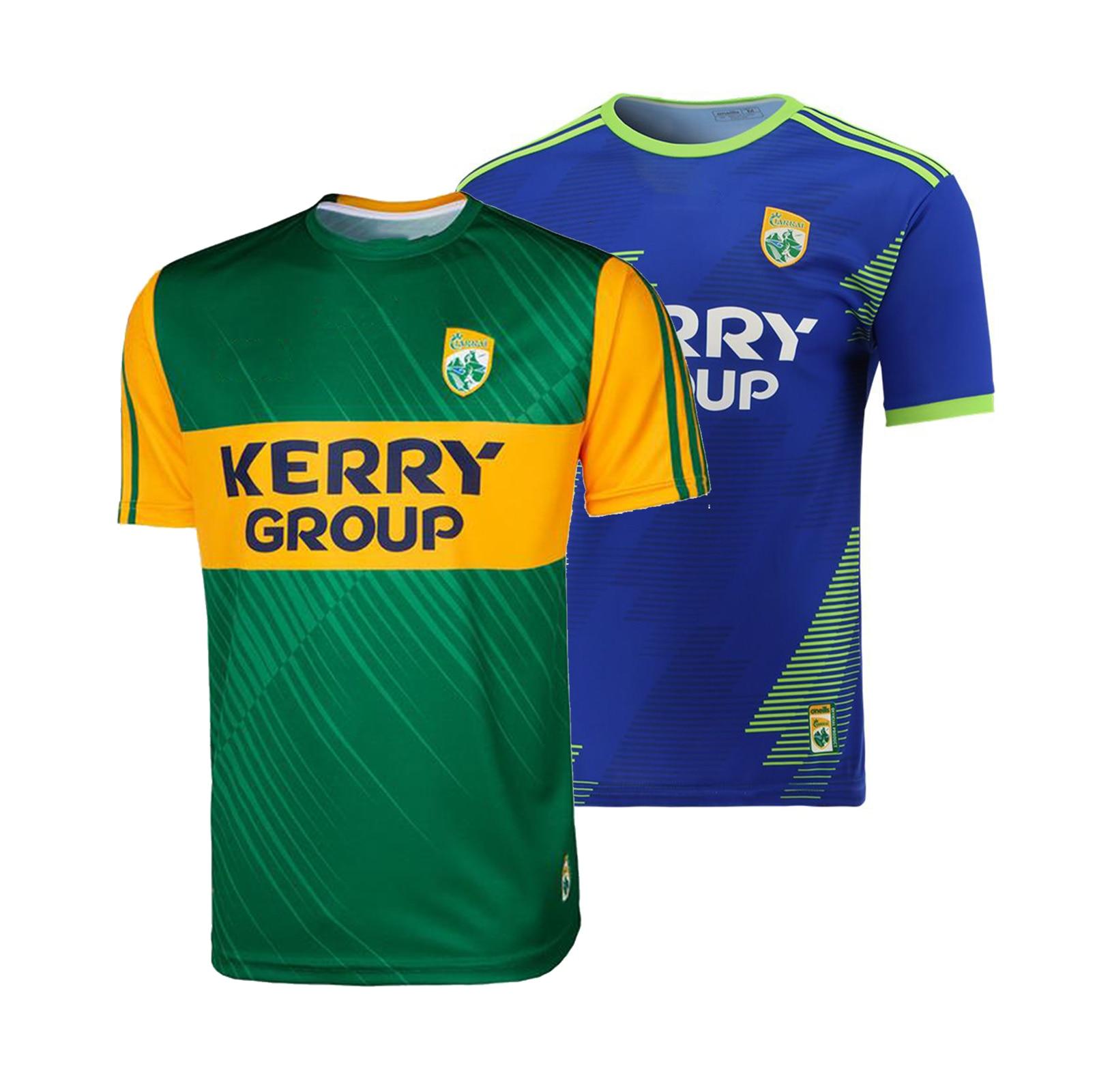 2021 Kerry GAA 2 Stripe Home/Away Jersey  Sport Shirt S-5XL