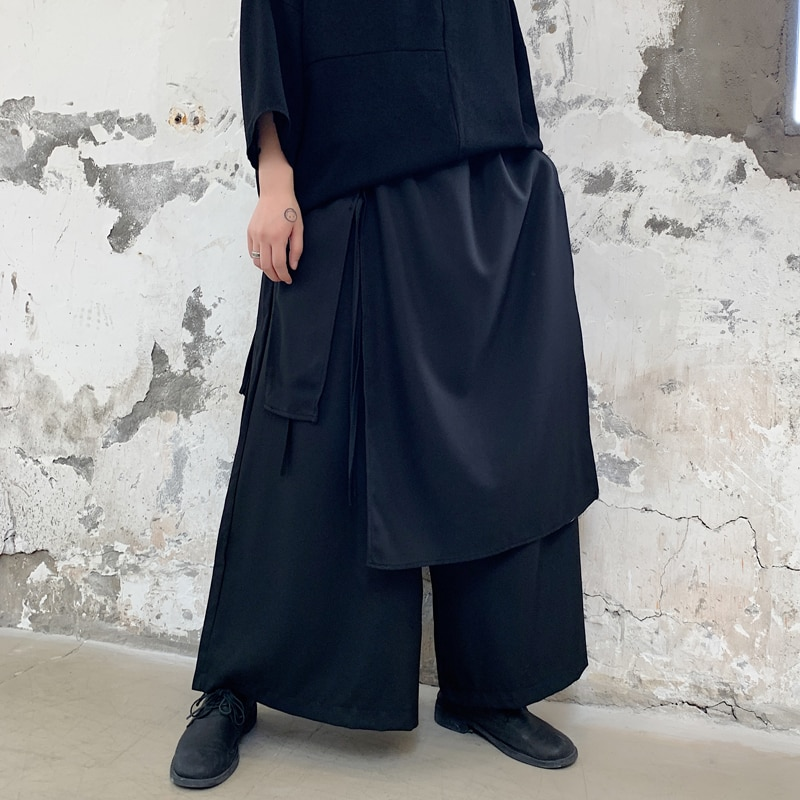 Four Seasons Dark Yamamoto, Loose-fitting, Wide-legged Pants, Hairdresser, Youth Culottes, Overalls, Capri Pants, Trend Trousers