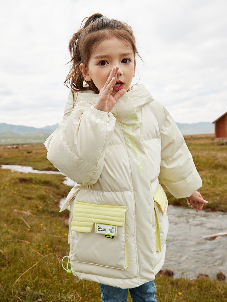 Winter 2021 Children's Clothing Down Jacket For Boy  Outerwear Medium And Long LovelyWhite Duck Down Parka For Girls enlarge