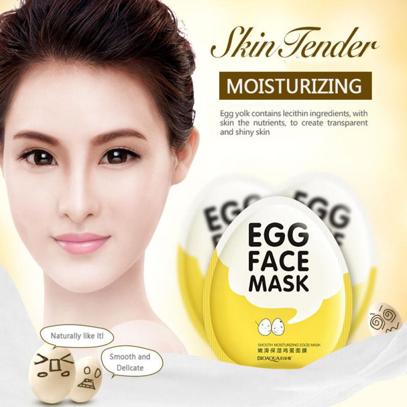 Q Run máscara de huevo de belleza hidratante reposición nutritiva máscara suavizante suave TSLM1