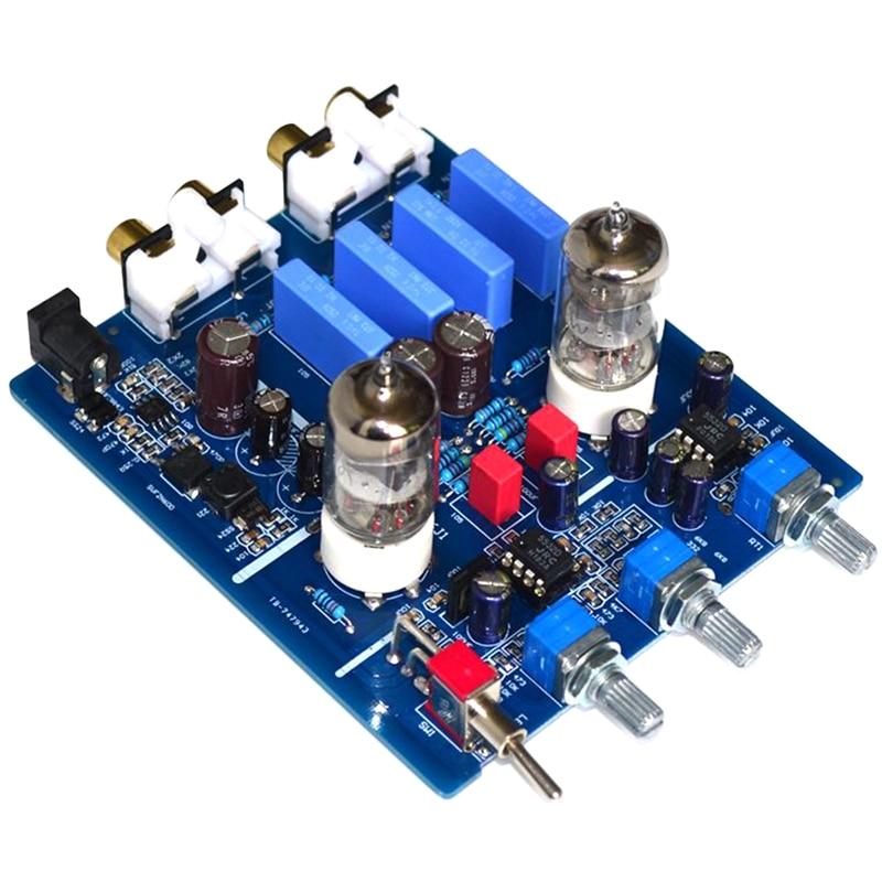 6J1 أنبوب الصفراوية Preamplifier HIFI الصوت Preamp مع ثلاثة أضعاف باس تعديل DC12V الإلكترون صمام Preamp الصفراوية العازلة 1 قطعة