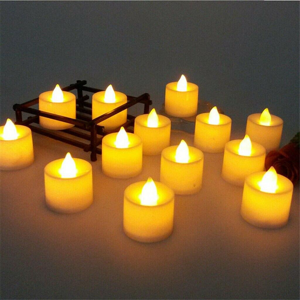 24X светодиодный лампы в форме свечи лампы Беспламенного светодиодный свечи Батарея работает теплый белый свечи прессформы для романтическ...