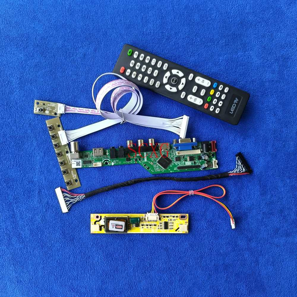 Fit B154EW03/B154EW07/M154EW01 30Pin LVDS AV VGA USB HDMI-متوافق مع الإشارة التناظرية 1280*800 شاشة LCD لوحة القيادة 2CCFL لتقوم بها بنفسك عدة