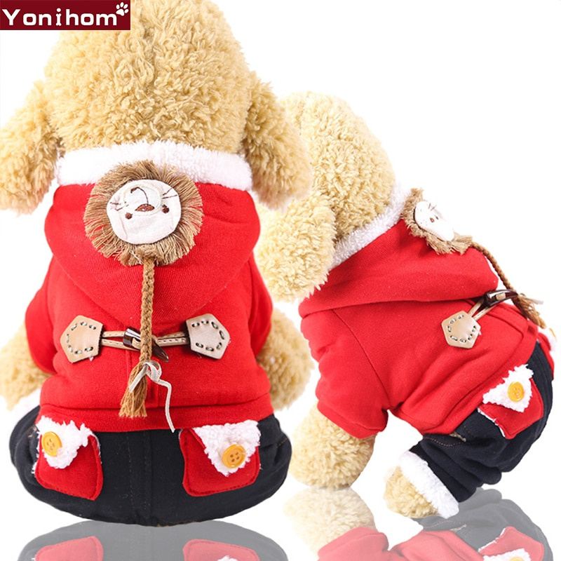 Winter Clothing for Dogs Cat Pet Dog Cotton Clothes Warm Puppy Cats Down Bulldog Yorkie Jacket Coats