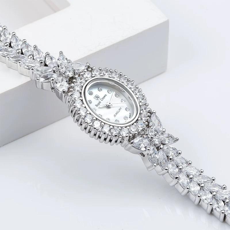 Herhome Qualtiy AAA الزركون عناصر ليف كريستال نمساوي سوار ساعة لحفل زفاف مجوهرات الأزياء المصنوعة مع بالجملة