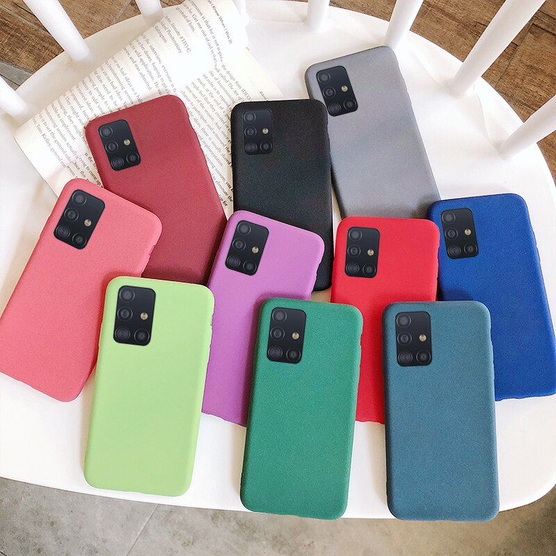 Funda blanda de TPU para Samsung Galaxy S20 Ultra A71 A81 A91 A51 A70 A50 A21 A01 M30 M80S Note10 Lite 8 9 S10e 5g S8 S9 Plus