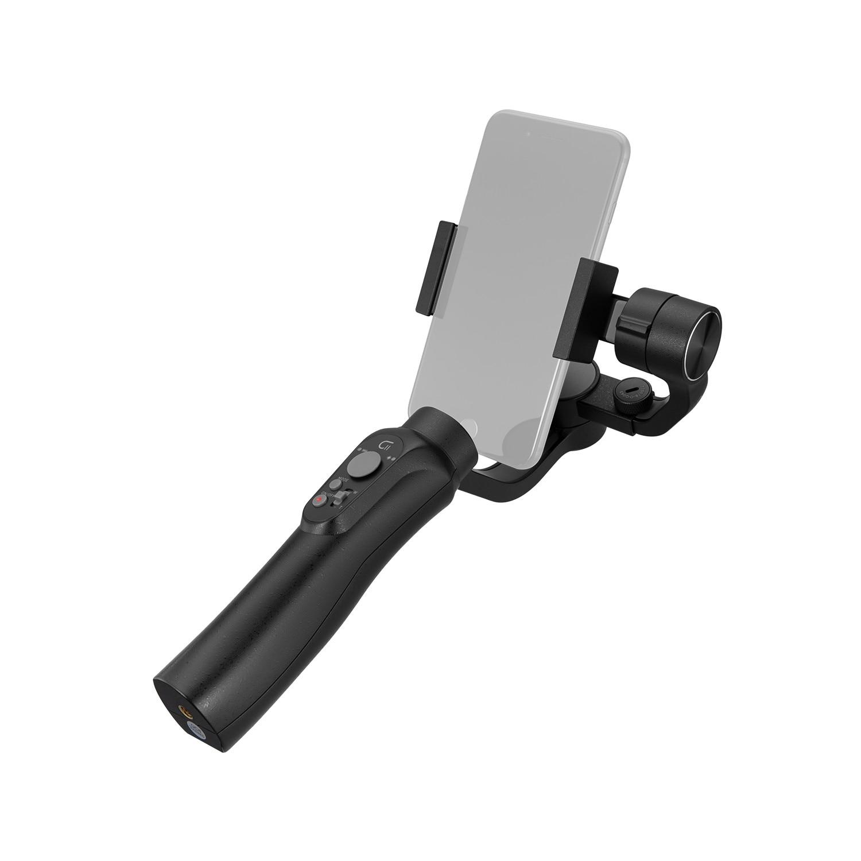 Cinepeer c11 3-axis handheld cardan estabilizador para smartphone como iphone samsung criar com vários modos de luz em peso