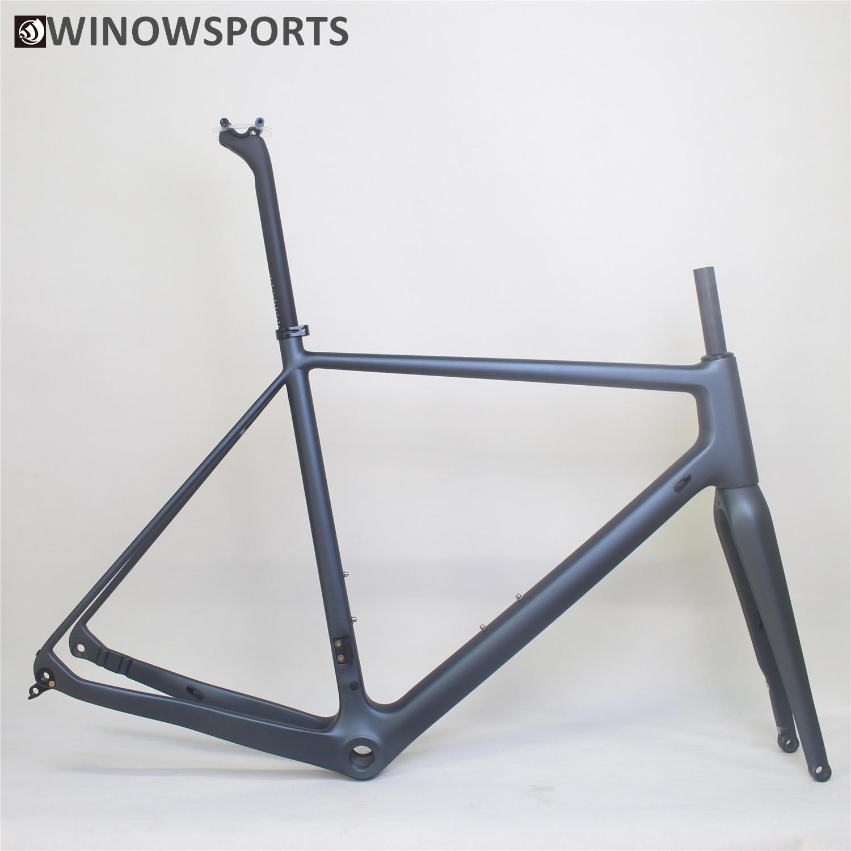 Winowsports de color personalizado de freno de disco de grava marco para bicicleta de carretera disco de 160mm plana Monte grava estilo de Marcos