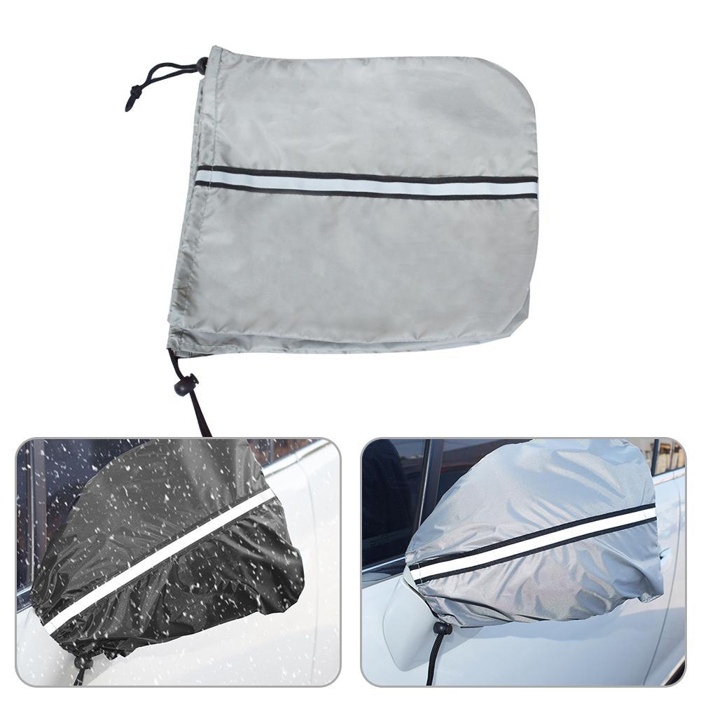 Cubierta protectora Universal para espejo de coche, 2 uds., cubierta protectora Anti escarcha, a prueba de agua, cubierta de espejo lateral para todoterrenos, camiones y camionetas