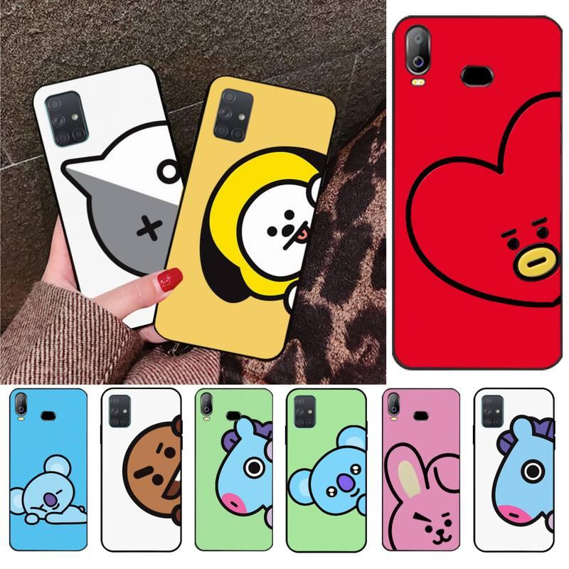 JAMULAR euforia JUNGKOOK correr Ep 33 Memes del Color del caramelo de la caja del teléfono para Samsung A10 A20 A30 A40 A50 A70 A80 A71 A91 A51 A6 A8 2018