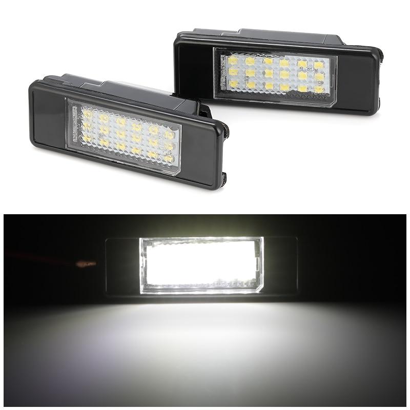 2 шт. Автомобильный задний номерной знак светильник 18 Светодиодная лампа SMD для Peugeot 106 207 307 308 406 407 508 для CITROEN C3 C4 C5 C6 C8