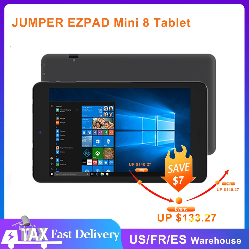 JUMPER EZPAD Mini 8 Tablet Windows 10 2GB 64GB Quad Core 8 Inch tablette Support TF Cards GPS Bluetooth WiFi Kids Tablet Pc Home