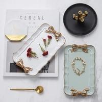 european retro style bowknot resin tray jewelry tray jewelry storage tray decoration tray fruit decoration tray