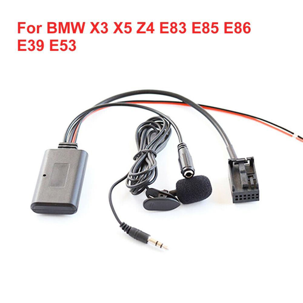 For BMW X3 X5 Z4 E83 E85 E86 E39 E53 Bluetooth Car Aux Auxiliary Line Adapter