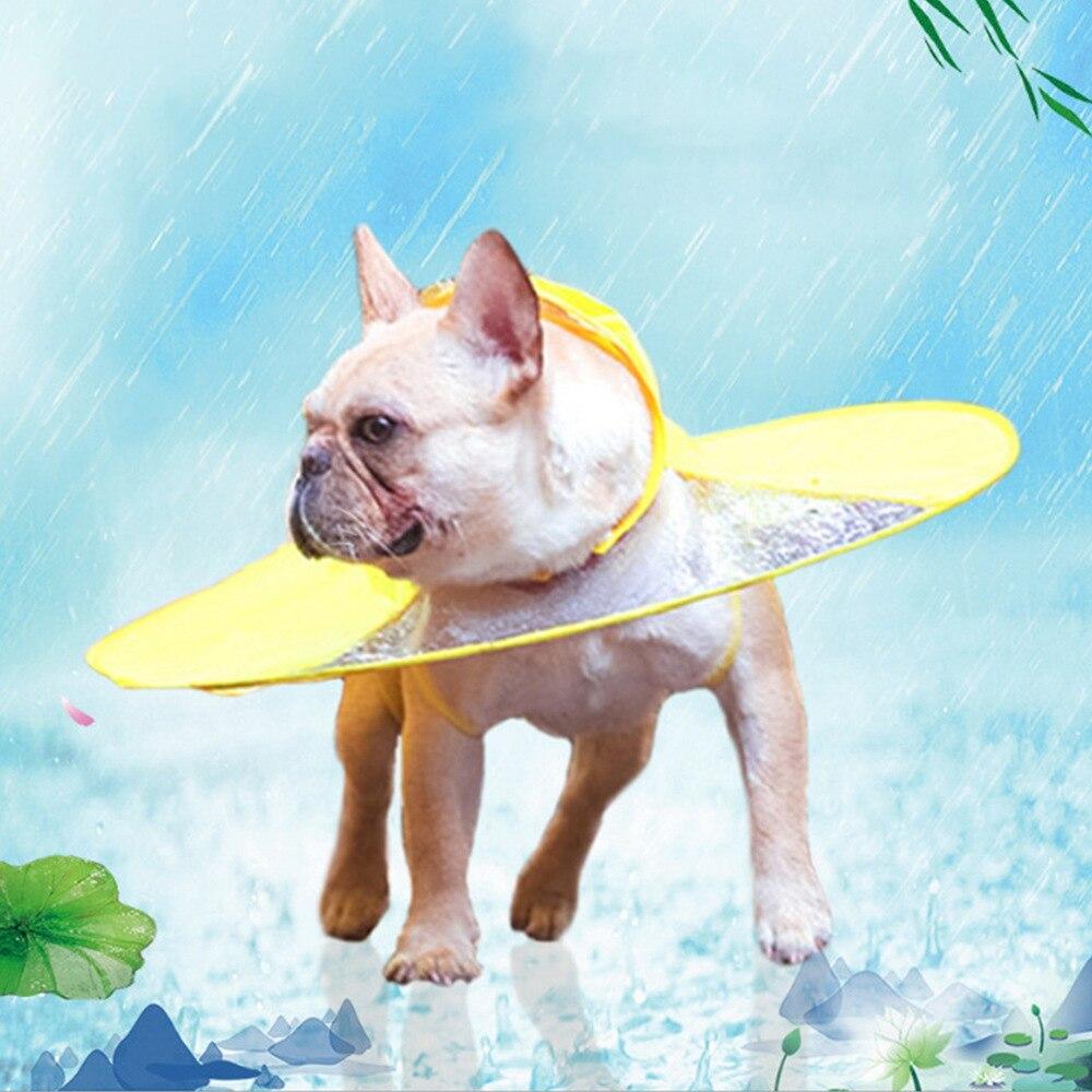 Chubasquero de perro interesante capa tipo paraguas chubasquero para perros bonito impermeable para perros pequeños medianos transparente