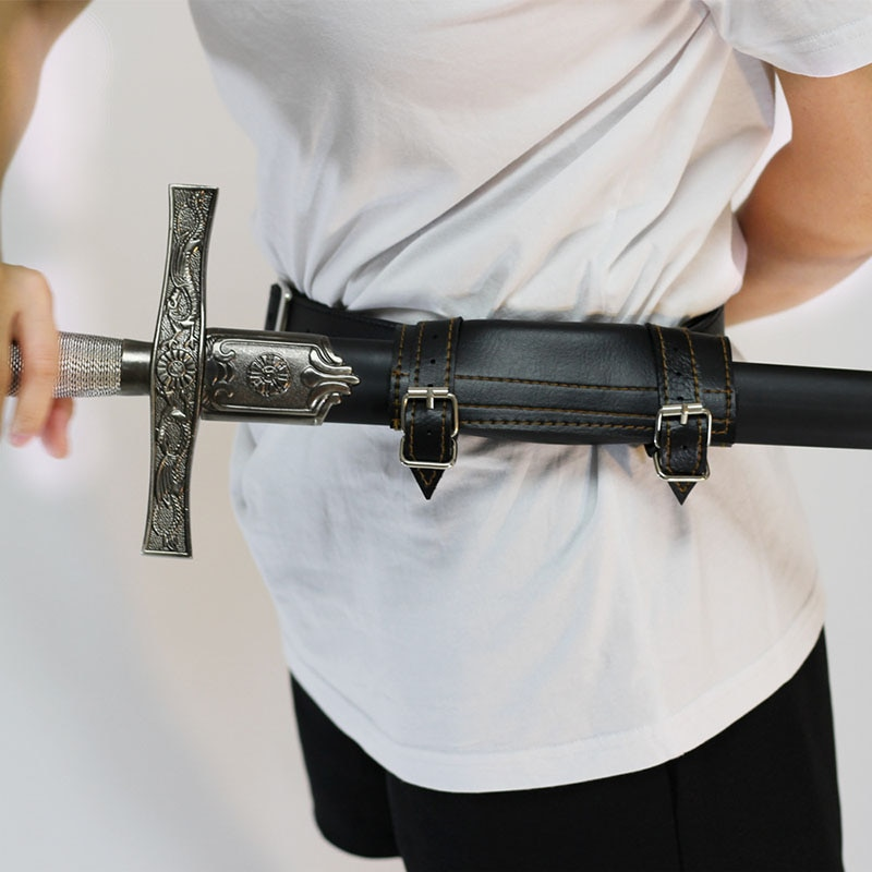Cinturón para espada Medieval, vaina de cintura, soporte de rana, soporte para hombre adulto, Larp, Caballero de batalla, arma vestuario, pinzas, anillo, correa, funda