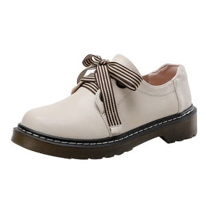 Fashion Oxfords Loafers White Black Sweet Flats Ladies Shoes Casual Bowknot Summer Women Shoes Lace-up Ladies Loafers Size35-43