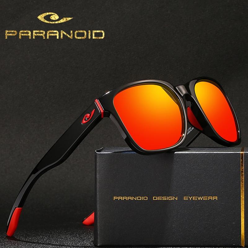 Солнцезащитные очки PARANDOID мужские водительские, винтажные поляризационные темные очки, чёрные квадратные, 8 цветов, модель 8011 P8011