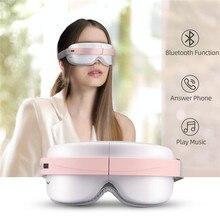 La Fatigue de Massage de Simulation chauffée par masseur doeil de compresse chaude soulage les lunettes intelligentes sans fil de thérapie de masque doeil avec la musique de Bluetooth