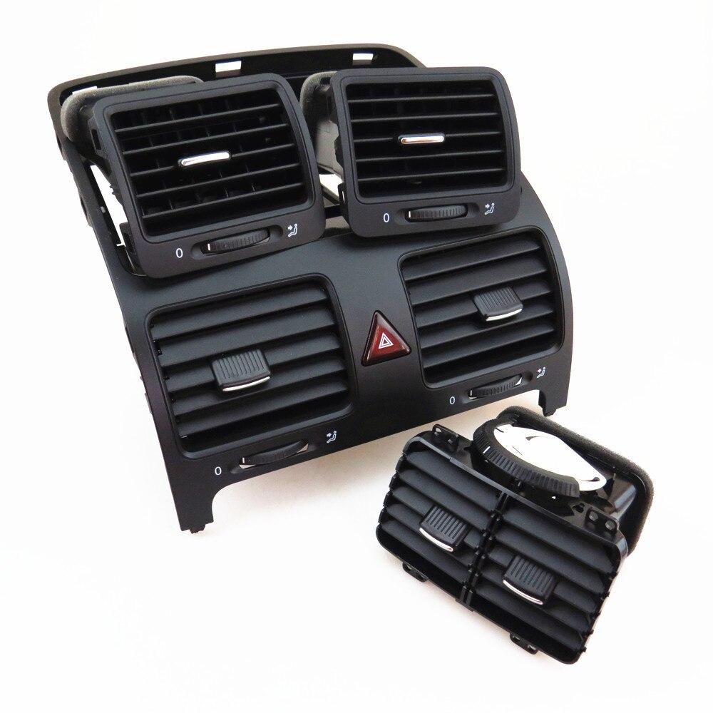 TUKE 1 комплект центральный выход кондиционера A/C Vent Kit + предупреждающий переключатель для VW Jetta Golf 1KD 819 728 1KD 819 704 1K0 819 703