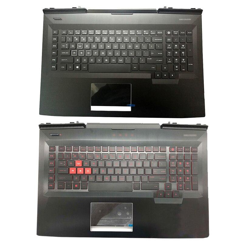 NEW For HP OMEN 17-AN 17T-AN 17-AN000DX  17-an120nr 17-an198ms Palmrest Upper Case US Backlit keyboard 931689-001 L14993-001