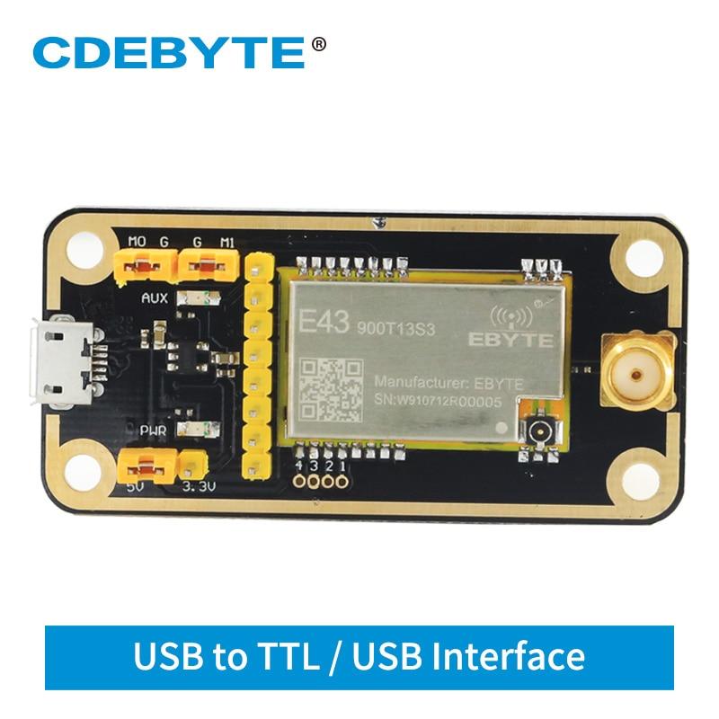 868mhz 915mhz cojxu e43 900t13s3 low cost iot module development board uart wireless transceiver transmitter receiver USB Test Board 900MHz 13dBm SMD Serial Port UART For E43-900T13S3 Wireless Transceiver Module CDEBYTE E43-900TB-01